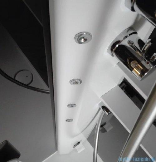Novellini Glax 2 2.0 kabina z hydromasażem 80x80 prawa total biała G22GF80DM1-1UU