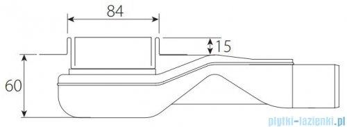 Wiper New Premium Pure Odpływ liniowy z kołnierzem 120 cm szlif 100.1973.02.120