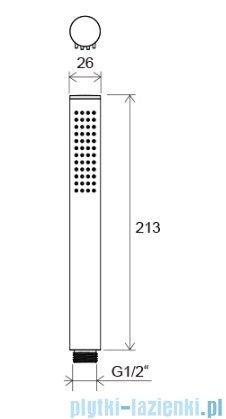 Ravak Chrome słuchawka 1-funkcyjna X07P007