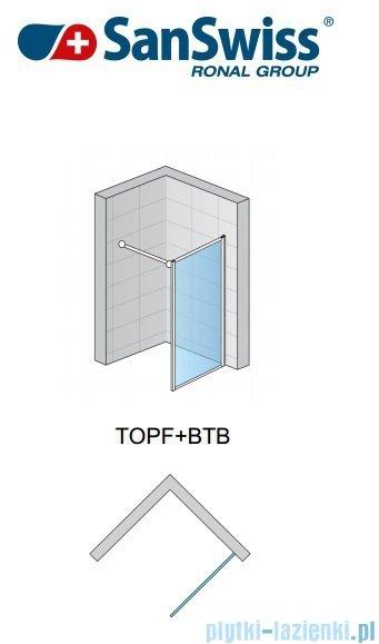 SanSwiss Top-Line TOPF Ścianka boczna 80-120cm profil srebrny TOPFSM20107