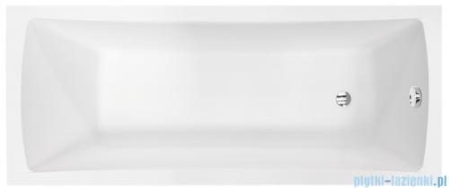 Besco Optima Premium 170x70cm wanna prostokątna z uchwytami i zagłówkiem + obudowa + syfon
