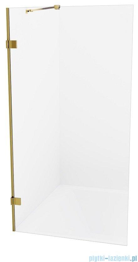 New Trendy Avexa Gold parawan nawannowy z wspornikiem prostopadłym 90x150 cm przejrzyste EXK-2008-WP