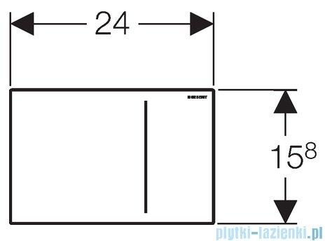 Geberit Sigma70 przycisk uruchamiający przedni czarny 115.625.SJ.1