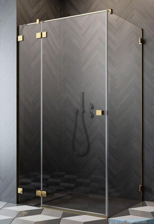 Radaway Essenza Pro Gold Kdj kabina 110x90cm lewa przejrzyste 10097110-09-01L/10098090-01-01