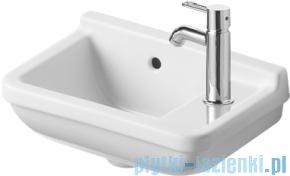 Duravit Starck 3 umywalka z przelewem z półką na baterię 400x260 mm 075140 00 00