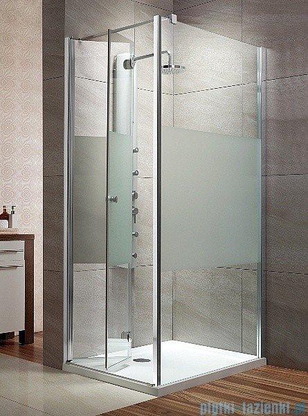 Radaway Eos KDJ-B kabina prysznicowa 80x80 lewa szkło intimato + brodzik Delos C + syfon