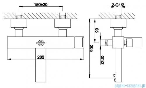 Kohlman Excelent natynkowa bateria wannowo-prysznicowa QW110H