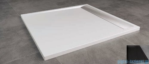 SanSwiss Ila WIQ Brodzik kwadratowy 90x90cm kolor czarny/czarny WIQ09006154