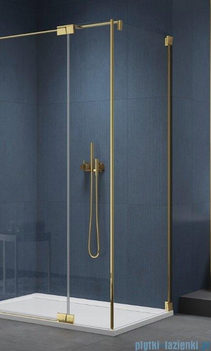 SanSwiss Cadura Gold Line ścianka boczna 90x200cm profile złote CAT30901207