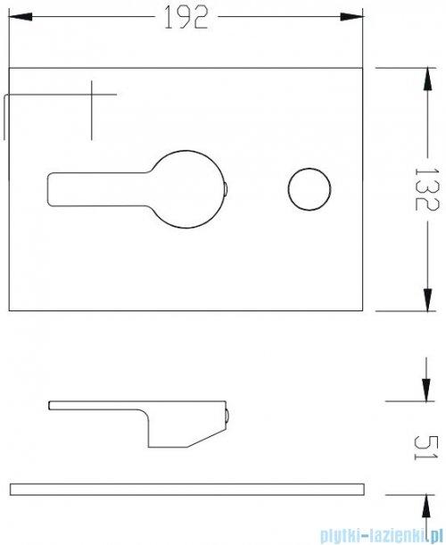 Omnires Alizé podtynkowy zestaw prysznicowy chrom SYSAL10