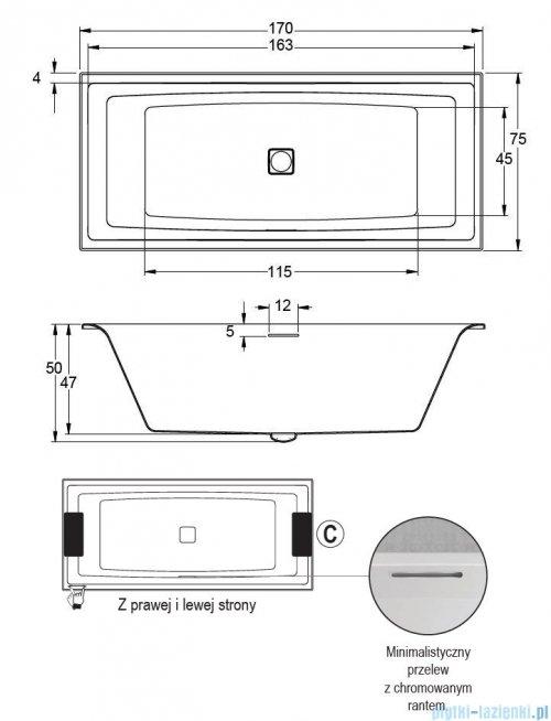 Riho Still Square wanna z zagłówkami i oświetleniem 170x75cm + syfon BR0200500K00132