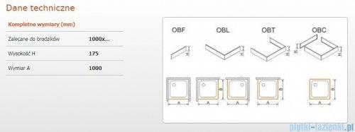 Sanplast obudowa frontowa do brodzika OBF 100x17,5cm biały 625-403-0330-01-000