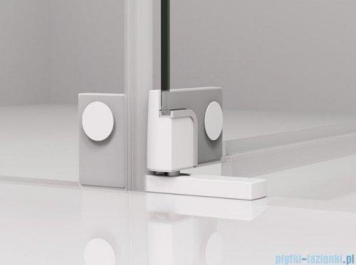SanSwiss Cadura White Line drzwi wahadłowe 110cm jednoczęściowe prawe z polem stałym biały mat CA31CD1100907