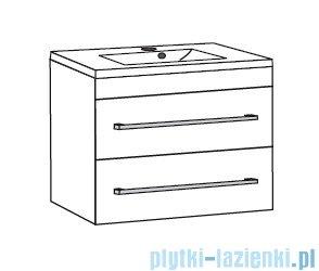 Antado Variete ceramic szafka z umywalką ceramiczną 2 szuflady 82x43x50 szary połysk 671058/667556