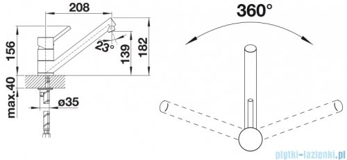 Blanco Antas bateria wysokociśnieniowa kolor: chrom 515337