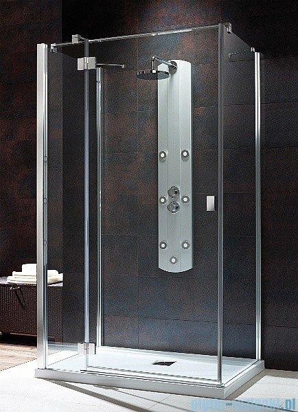 Radaway Kabina prysznicowa Essenza KDJ+S 90x80x90 lewa szkło przejrzyste + brodzik Doros D + syfon