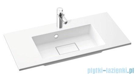 Marmorin Lira 800 umywalka wpuszczana w blat 80x39 bez przelewu i bez otworu na baterie biała 640080020010