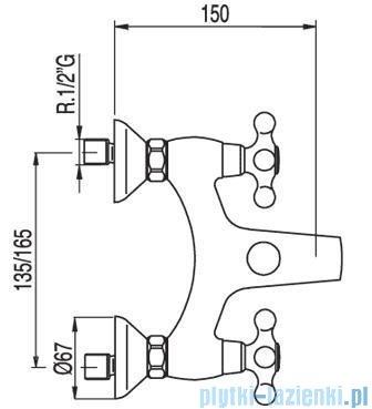 Tres Clasic-Tres Bateria wannowa ceramiczna 1.32.774
