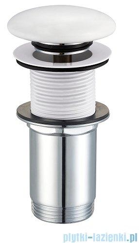Omnires korek umywalkowy klik-klak bez przelewu biały połysk A716BP