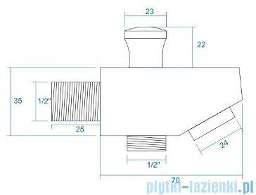 Corsan wylewka 7cm chrom rysunek techniczny