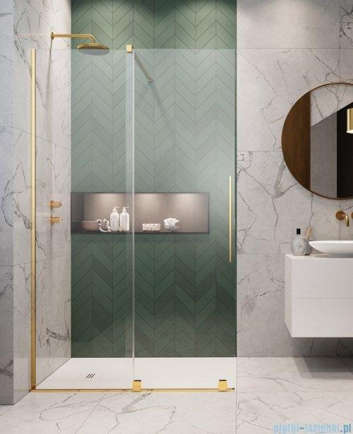 Radaway Furo Gold Walk-in kabina 130x200cm lewa szkło przejrzyste 10106688-09-01L/10110644-01-01