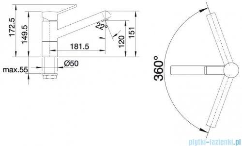 Blanco Zenos  bateria wysokociśnieniowa kolor: alumetalik/chrom 517806