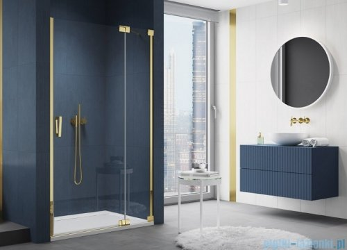 SanSwiss Cadura Gold Line drzwi wahadłowe 140cm jednoczęściowe prawe z polem stałym CA13D1401207