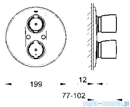 Grohe Grohtherm 2000 Special bateria termostatyczna do obsługi wiecej niż jednego wyjścia wody  19417000