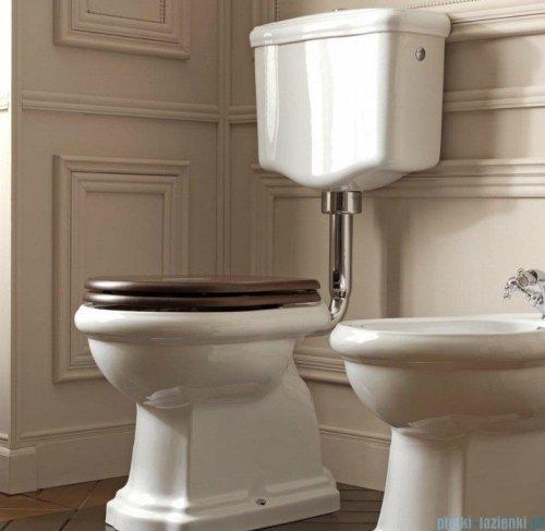 Kerasan Retro Zestaw chrom WC kompakt średni, odpływ pionowy (1010,1082,7513,7504,109001)
