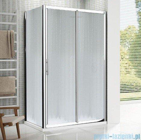 Novellini Drzwi prysznicowe przesuwne LUNES 2P 138 cm szkło przejrzyste profil srebrny LUNES2P138-1B