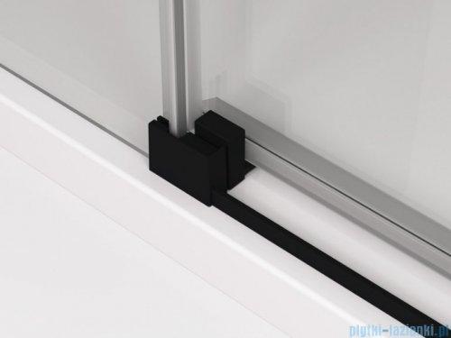 SanSwiss Cadura Black Line kabina Walk in 120cm prawa ze ścianką przesuwną profile czarny mat CAW2D1200607