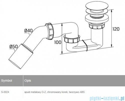 New Trendy syfon brodzikowy ze spustem click-clack Ø 52 S-0024