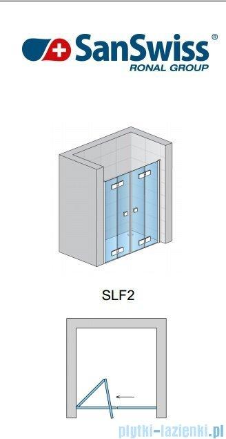 SanSwiss Swing Line F SLF2 Drzwi składane 160cm profil połysk SLF216005007