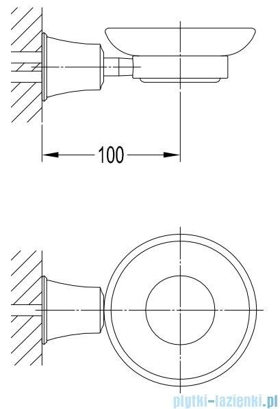 Omnires Art Line mydelniczka wisząca miedź antyczna AL53420ORB