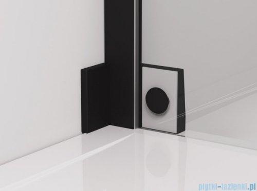 SanSwiss Cadura Black Line drzwi wahadłowe 120cm jednoczęściowe lewe z polem stałym czarny mat CA31CG1200607