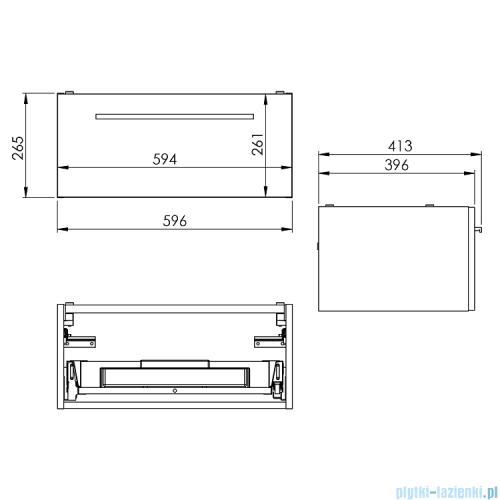 Elita Kwadro Plus szafka podumywalkowa 60x26x40cm biała połysk 166730