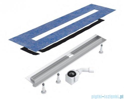 Schedpol Slim Lux odpływ liniowy z maskownicą Steel Slim 70x3,5x9,5cm OLSL70/SLX