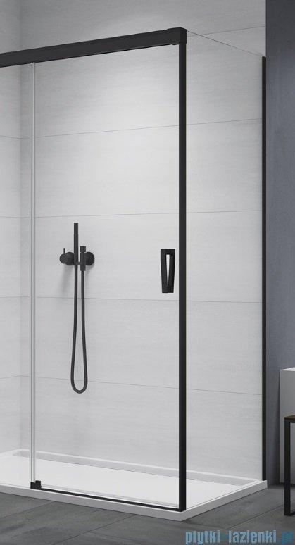 SanSwiss Cadura Black Line ścianka boczna Cast 100x200cm profile czarny mat CAST1000607