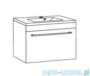 Antado Variete ceramic szafka z umywalką ceramiczną 82x43x40 czarny połysk 670549/667556