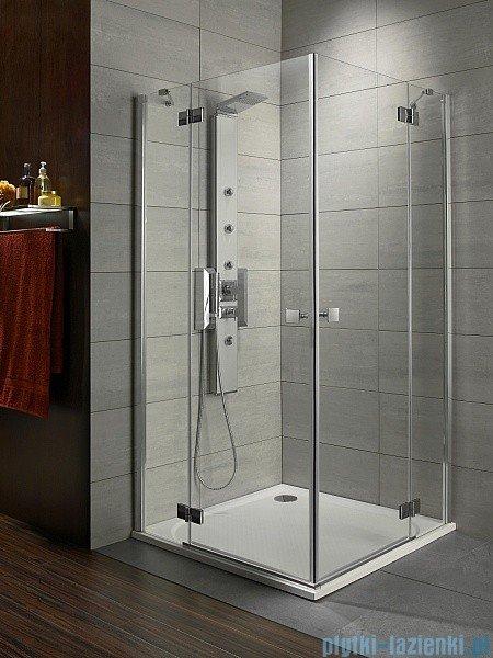 Radaway Kabina prysznicowa Almatea Kdd 80x90 szkło przejrzyste + brodzik Doros D + syfon