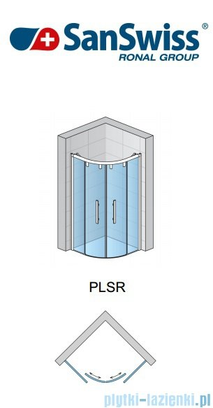SanSwiss Pur Light S PLSR Kabina półokrągła z drzwiami rozsuwanymi 90cm PLSR500905007
