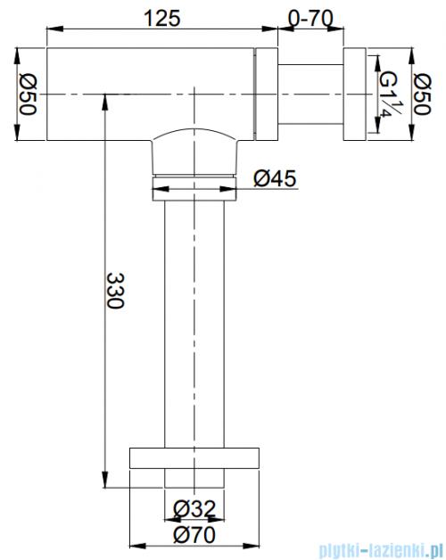 Omnires syfon umywalkowy ozdobny chrom A186CR