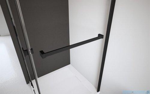 Radaway Furo Black PND II parawan nawannowy 100cm lewy szkło przejrzyste 10109538-54-01L/10112494-01-01