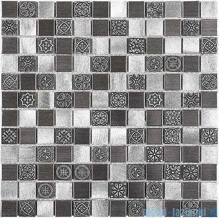 Dunin Metallic mozaika metalowa 30x30 allumi grey mix 23