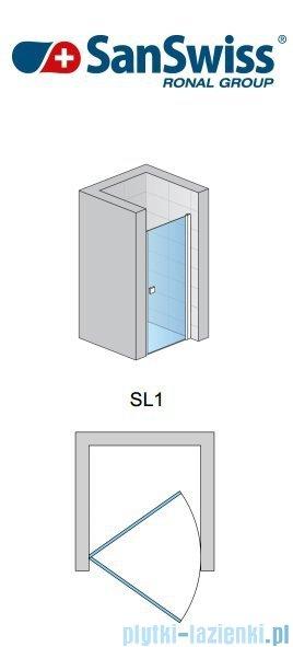 SanSwiss Swing Line SL1 Drzwi 1-częściowe 100cm profil połysk SL110005007
