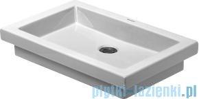 Duravit 2nd floor umywalka meblowa bez przelewu bez półki na baterię 580x415 mm 031758 00 29