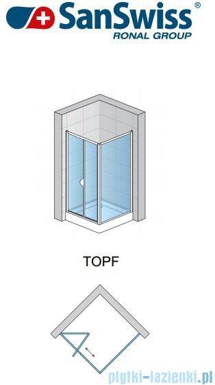 SanSwiss TOPF Ścianka boczna 75cm profil połysk TOPF07505007