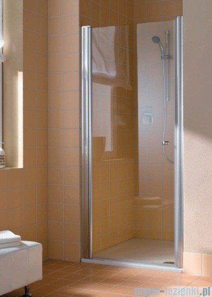 Kermi Atea Drzwi wahadłowe jednoskrzydłowe lewe, szkło przezroczyste, profile białe 95cm AT1WL095182AK