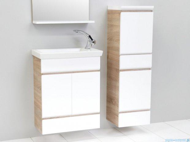 Antado Gabi szafka podumywalkowa 56x30x71 dąb Sonoma+biały GBY-140/60-3025/WS