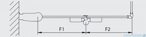 Kermi Diga Wejście narożne,połowa kabiny, prawa, szkło przezroczyste, profile białe 120x200cm DI2CR120202AK